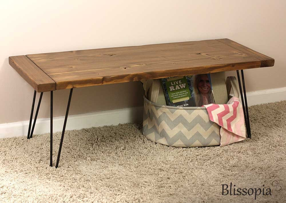 Hairpin Leg Bench Wood Top Bench Entry Bench Dining Bench