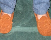 Custom Made Handmade Native American Style Scout Leather Moccasins