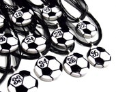 12 Soccer Ball Necklaces Personalized with Player's Numbers - Team Spirit, Spiritwear, Gifts for Soccer Players, Soccer Moms, Futbol