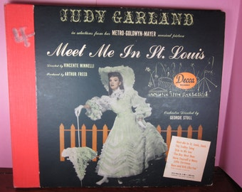 Judy Garland in selections from MGMs Meet Me in St. Louis record set by Decca Records