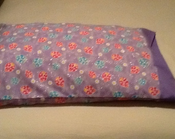 Pillow Case Ladybugs on Lavender Background with Glitter
