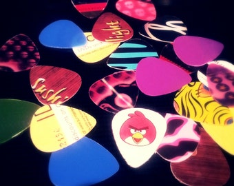 Guitar Picks from Recycled Plastic Stuff