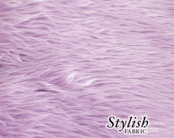 ON SALE Lilac Pile Luxury Shag Faux Fur Fabric by the yard for costume, throws, home furnishing, photo props - 1 Yard Style 5009