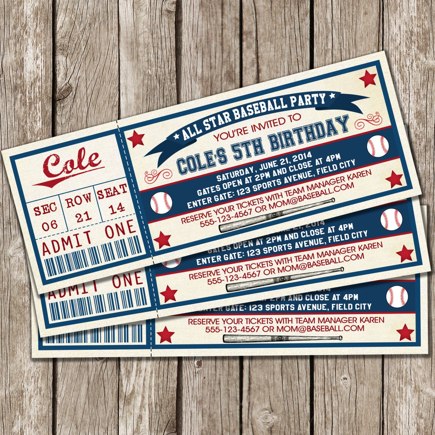 printable tickets vintage baseball ticket invitation baseball birthday party invitation boy birthday party diy printable