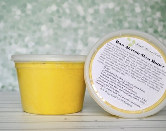 100% Pure Organic Unrefined Yellow Shea Butter - 16oz - Imported From Ghana - Free Shipping