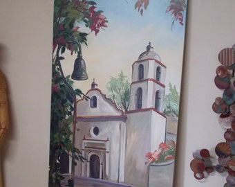 MURAL WALL HANGING  Sold . Now Custom Order only   San Luis Rey Mission Oceanside, California   No Shipping    Local Pick-up Only