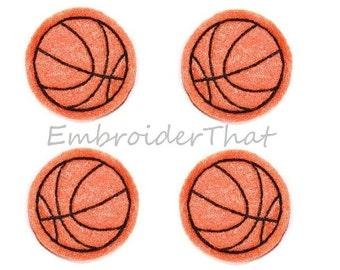 UNCUT Basketball felt  applique embellishments (4)