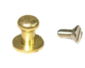 Button Stud Small Screwback