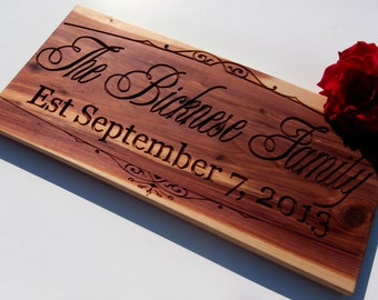 Custom Sign: Wedding Anniversary Business Sign Wood Signs Anniverary Gift Marriage Sign Family Sign Personalized Signs