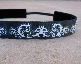 black headband. Sports headband, yoga headband, runner headband, basketball headband, dance headband, women's hair accessory, girls headband