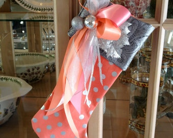 Peach Sorbet Christmas Stocking