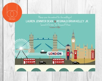 London Save the Date Card