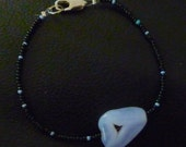 Lace Agate Beaded Seed Bead Bracelet-