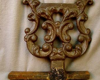 Antique Ornate CAST IRON Foot Boot SCRAPER