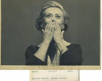 Giulietta Masina Italian actress vintage photo