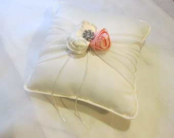 Elegant bow rosette ring-bearer pillow