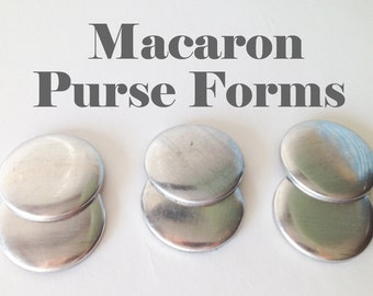 Macaron Coin Purse Forms - 3 pairs