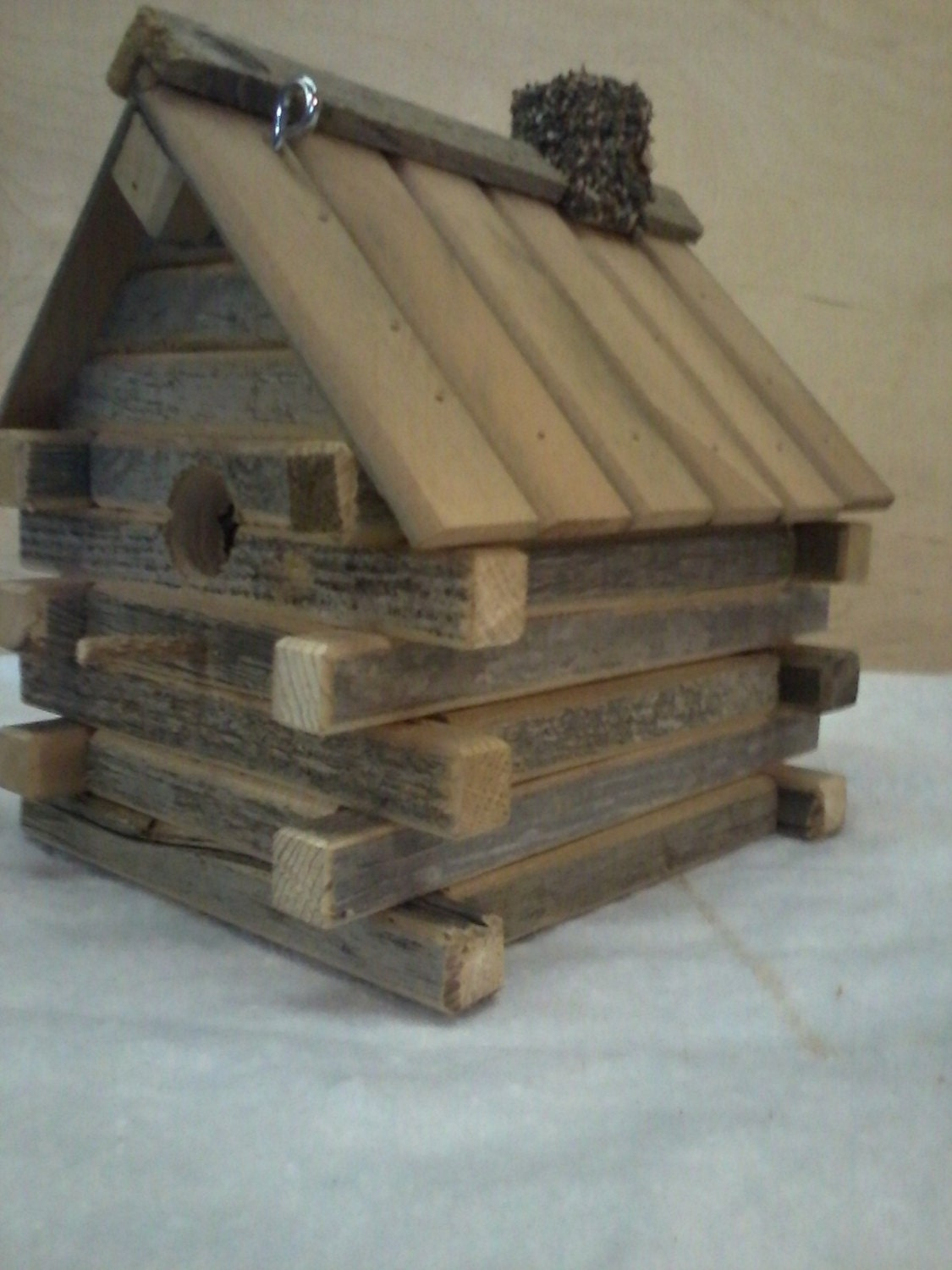 Marvelous photograph of Log Cabin Birdhouse by TheRolfzenPlace on Etsy with #6D614C color and 1125x1500 pixels