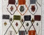 "90""X43"" Hand weaving new wool carpet Azilal / moroccan rug Azilal"