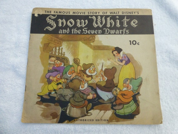 Snow White and the Seven Dwarfs 1938 Authorized Walt Disney