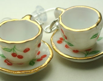 Miniature Tea Cup Earrings