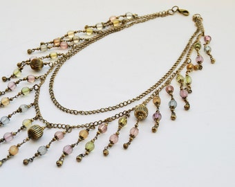 reflexes necklace with colored balls