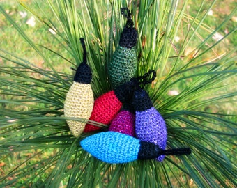 Old Fashioned Christmas Lights Ornament Set