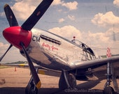 P-51 Mustang WWII Bomber - War Memorabilia - Vintage Military Images - 11x14 - Airplane - Fpoe - Vintage Airplane