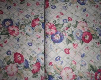 Floral Print Poly/Cotton blend Fabric