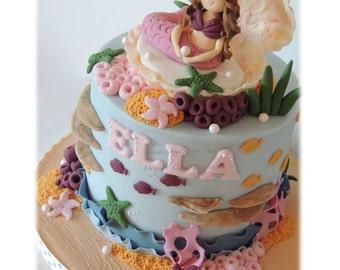 Mermaid Ganached Cake & Chocolate Shell PDF Tutorial