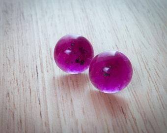 Pink Round  Studs