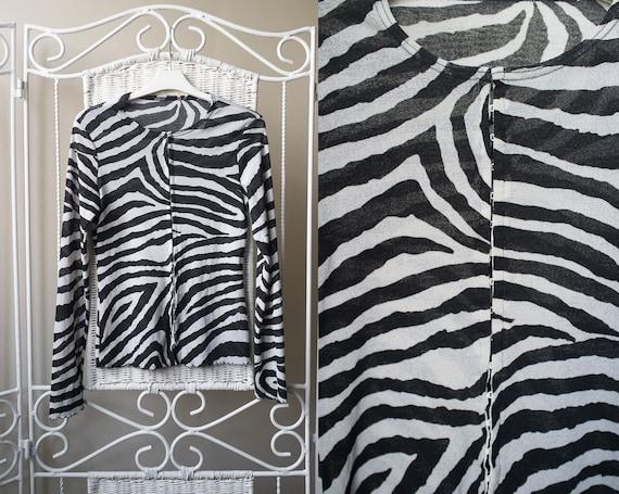 Zebra Print Sheer Blouse 45