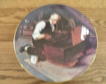 Grandpa's Love by Norman Rockwell Collector Plate