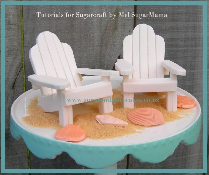 wedding cake topper mini adirondack beach chair adirondack chair cake topper tutorial tutorial in pdf 26354