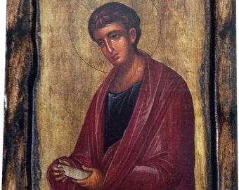 Saint St. Philip - The Αpostle - Orthodox Byzantine icon on wood handmade (22.5cm x 17cm)