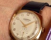 Solid 9ct Gold Winegartens Ltd. 1993 hallmarked 17 Jewel Swiss watch.
