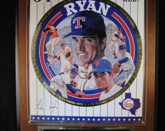Nolan Ryan plaque by Sports Impressions