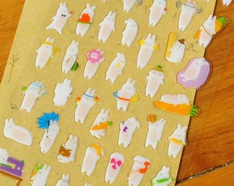 Lovely Popo Rabbit Stickers  - 1 sheet