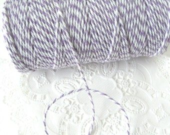 10 Yards Lavender and White Baker's Twine Cotton Twine Pretty Packaging