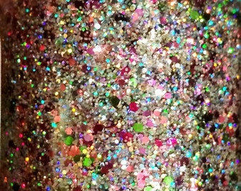 Chandelier--handmade glitter nail polish