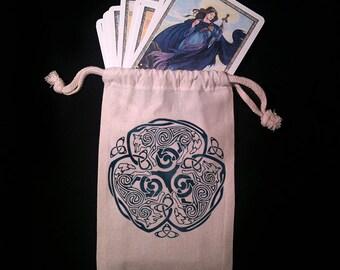 Celtic Wolf Tarot Bag -  Pagan Wiccan  - Brigid Ashwood