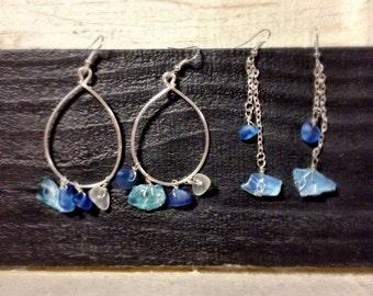 Sea glass earrings...