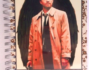 "A5 Handcrafted Spiral-bound Notebook - ""The Little Book of Castiel"""