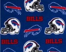 Handmade Fleece Team Blankets/Throws, 50 x 60, Buffalo Bills