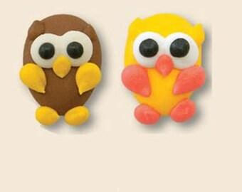 Fall Owls Royal Icing Dec Ons-Set of 12