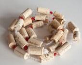 Valentines Gift Idea, Valentines Decor, Wine Cork Garland, Wine Cork Crafts, Engagement Party Decor,  Valentines Garland, Wholesale