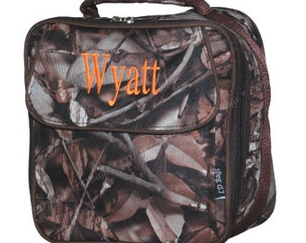 Camo Lunch Bag, Camo Lunchbox, Camo Lunch Tote, Woods Camoflauge,  Personalized Lunchbag,Boys Lunchbag,Camo Lunch, Lunch Box