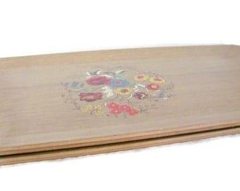 vintage hasko faux wood floral lap trays 1960u0027s lap trays mid century decor