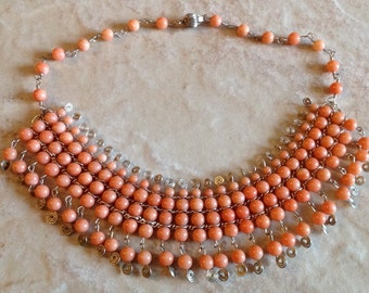 Handmade Pink Coral Necklace