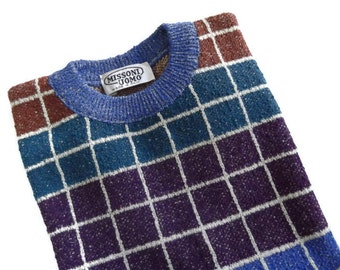 Vintage Men Missoni Knit Vest, Sweater Vest, Round Neck Vest, size S, Made in Italy